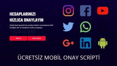 Ücretsiz Mobil SMS Onay Scripti 2021 - Ücretsiz Scriptler 13