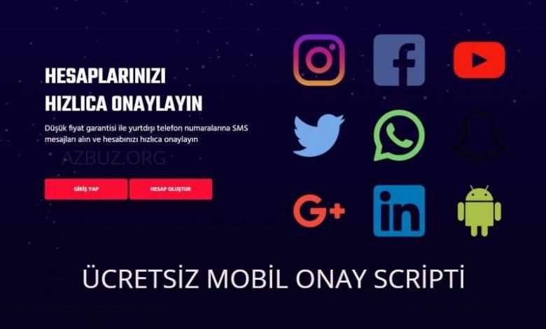 Ücretsiz Mobil SMS Onay Scripti 2021 - Ücretsiz Scriptler 1